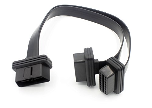 LoongGate OBD-II Splitter Y Kabel - 1 Stecker auf 2 Buchse OBD2 Auto Diagnose Extender Kabel Adapter - Full 16 Pin Pass durch Flache Nudel Kabel - 0,3 Meter