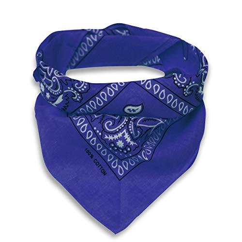 Oramics Bandana Koptuch Halstuch – 55 x 55 cm, gemustert: Paisley Muster – in verschiedenen Farben aus 100% Baumwolle, modernes Nikituch gegen Wind und Kälte (Königsblau)
