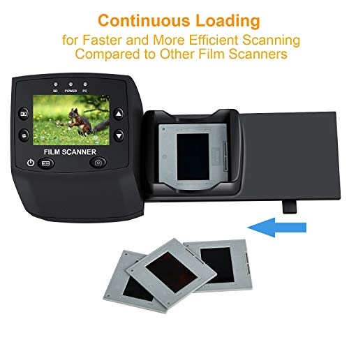 DIGITNOW! 135 Film Negative Scanner High Resolution Slide Viewer,Convert 35mm Film &Slide to Digital JPEG Save into SD Card, with Slide Mounts Feeder No Computer/Software Required