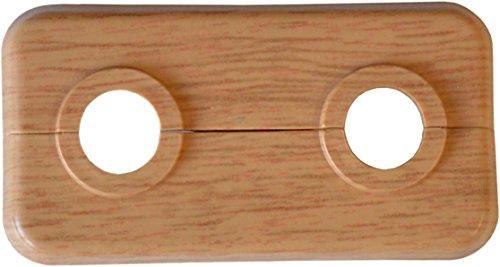 sanicomfort 1845942 Doppel-Klapprosette Eiche 18 mm, 50 mm Rohrabstand