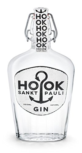 HOOK Gin / kräftiger Dry Gin direkt aus Hamburg Sankt Pauli mit 6 klassischen Zutaten - stark wie ein Seemann mit 44% - 500ml