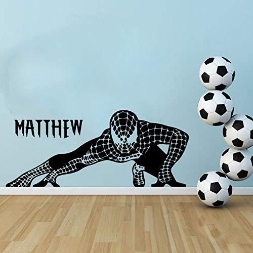 zhuziji Stickers muraux en Vinyle Spider Man Superhero Decal Amovible Vinyle Art Home Decor Sticker Mural 888-1 90 x 38 cm