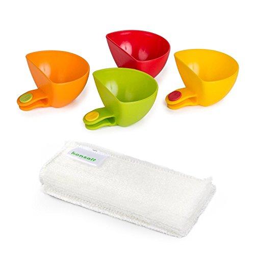 Konsait dip clips,Plate Grab Clip-on Dip Holders(set of 4)