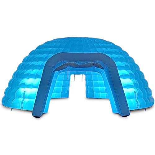 SAYOK 26.25ft Inflatable Igloo Dome Tent with Air Blower, Outdoor Dome Event Tent Inflatable Marquee Lighting Tent for Party Wedding Show Event and Exhibition