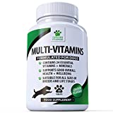 Daily Multivitamin Supplement <span class='highlight'>for</span> Dogs - 120 Chewable Chicken Flavour Tablets – Contains 24 Nutrients, Vitamins & Minerals - Helps with Brain, Heart, Eyes, Kidneys, Liver and Joint Function