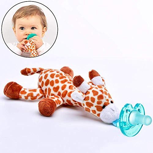 Fopspenen Baby, Soother Giraffe knuffel Pacifier Holder Giraffe Pluche Pasgeboren tandjes krijgen speelgoed voor baby's 0-4 maanden