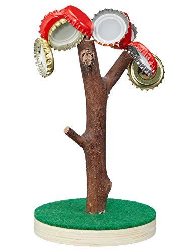 MIK Funshopping Magnetischer Kronkorkenbaum, ca. 15cm, Männergeschenk für Biertrinker, Geburtstagsgeschenk für Männer, Trinkspiel