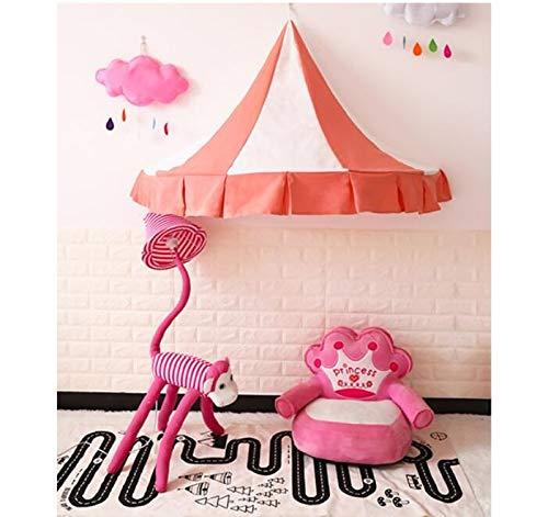 Humanity De algodón de los niños Pared de la Lona Que cuelgan Carpa Velo de Media Luna Carpa de niños de la Tienda de la Esquina Lectura de la Cama de bebé Playhouse (Color : Pink)