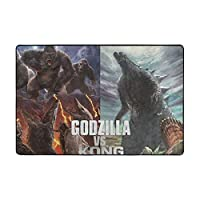 """Godzilla vs Kong ゴジラ vs コン ラグ カーペット ラグマット 滑り止め付 床暖房 チェアマット デスクマット マット 床 フローリング 防音 傷防止 マット 36""""x24"""""""
