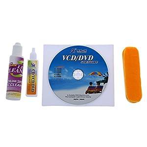 SODIAL(R) 4 en 1 Juego de limpieza de lentes de mantenimiento de reproductor de CD-ROM DVD