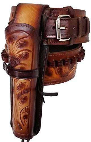 Modestone 357/38 Western Right High Ride/Rise Holster Ceinture Pistolet Leather 36