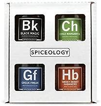 4-Pack BBQ Rubs - Spiceology Smoky Honey Habanero, Chile Margarita, Greek Freak, and Black Magic Grilling Spice and BBQ Rubs