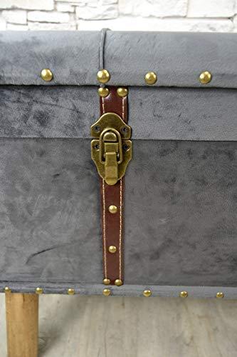 Livitat® Hocker Polsterhocker Suitcase Pouf Truhe Staufach Truhenbank Sitzbank Ottomane LV2084 - 5