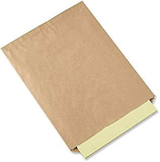 A1BakerySupplies® Kraft Paper Bags Flat Merchandise Bags 100 Pack 8.5 in X 11 in -Plain Bags