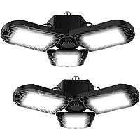 2-Pack LEDIARY LED Ceiling Light Fixture with Adjustable Three-Leaf Panels (60W)