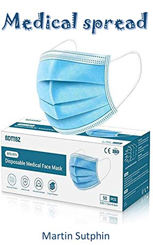 Medical spread : Disposable Face Mask - Comfortable, Breathable Face Masks with Adjustable Nose Strip (50, Light Beige)
