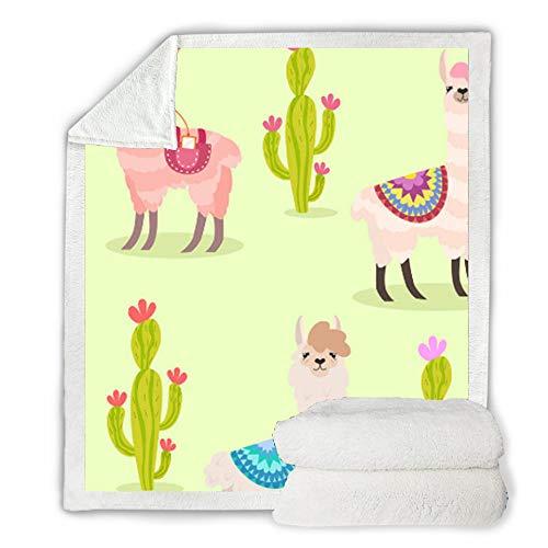 FDCSYP dekens, zacht beddengoed, dubbele strepen, plafonds, alpaca, dierdrukplant, 3D-digitale print voor op reis, warm dekbed, Queen-Size-bed 150×200cm