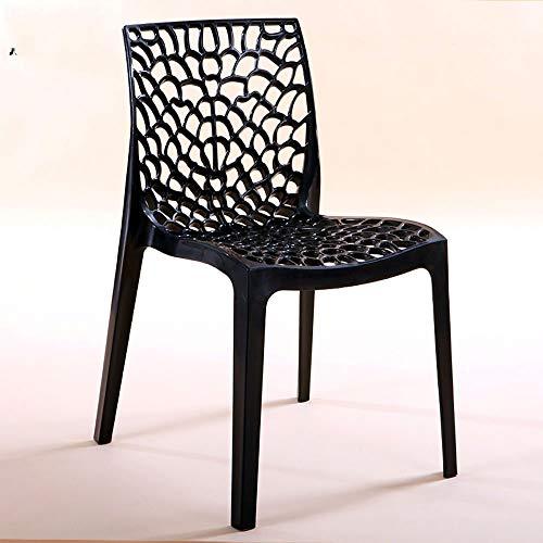 TYJIAJU Hocker Hocker Freizeit Thick Plastic Stool Rückenlehne Stylish Home Chair hko/Schwarz