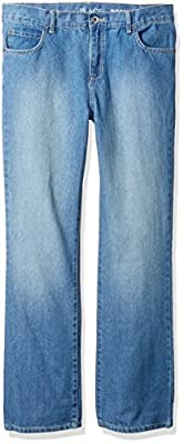 The Children's Place Little Boys' Bootcut Jeans, Light Stone, 7