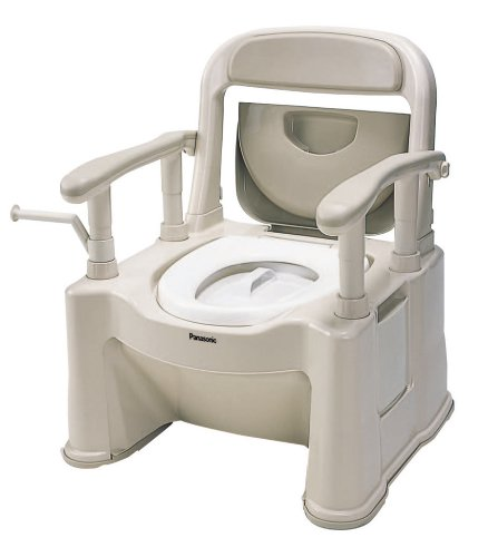 パナソニックエイジフリーライフテックポータブルトイレ<座楽>背もたれ型SPベージュVALSPTSPBE