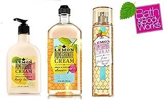 Bath and Body Works Lemon Pomegranate Cream NEW Daily Trio Gift Set - Fine Fragrance Mist 8 oz - Body Lotion 8 oz and Shower Gel 10 fl oz