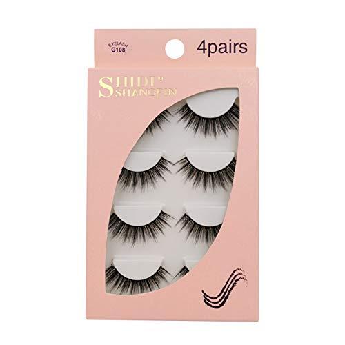 onewell Four Pairs False Eyelashes Slender Curl 3d Mink Hair False Lashes Seamless Grafting False Eyelashes, Great Choice and Gifts.