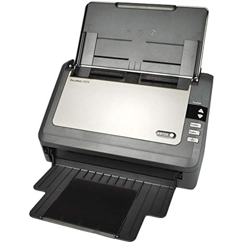 Xerox XDM31255M-WU DocuMate 3125 Color Sheetfed Scanner for Documents and Plastic Cards converting them to Digital Files, 25ppm and 44ipm with One Touch Technology