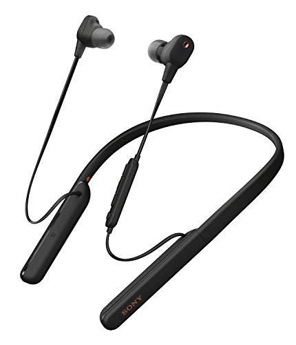 Sony WI-1000XM2 kabellose Bluetooth Hi-Res In-Ohr Kopfhörer (Noise Cancelling, Headset, Freisprecheinrichtung, Amazon Alexa, 10h Akku, Neckband-Style,Headset mit Mikrofon für Telefon & PC) schwarz