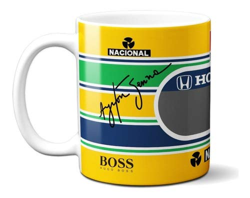 Caneca Ayrton Senna Fórmula 1 F1 Corrida Presente Criativo