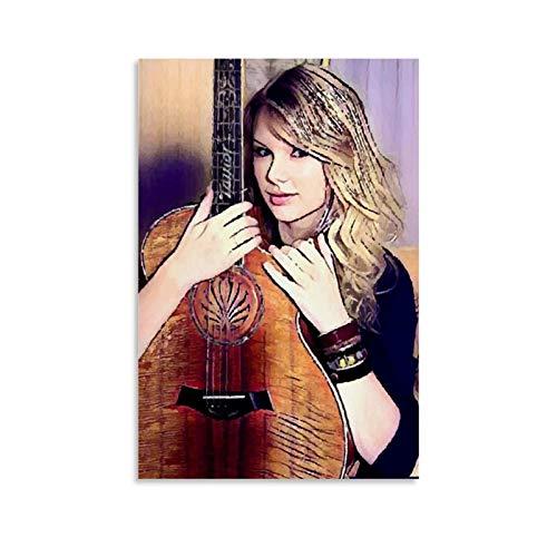 AMINIT Póster decorativo de Singer Taylor Swift 23, lienzo decorativo para pared, para sala de estar, dormitorio, 50 x 75 cm
