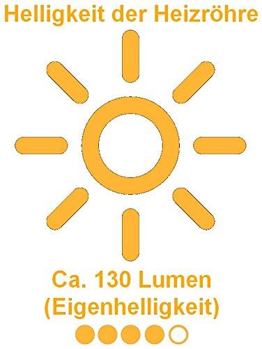 Aktobis Decken-Heizstrahler, Balkonheizer, Zeltheizer WDH-200LS (Schwarz + bis 2.000 Watt + LED Lampe) - 5