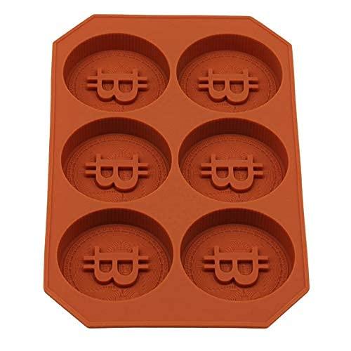 Bandeja de hielo útil 1 unid de silicona Molde de hielo Monedas Bitcoin Forma 3D Molde de hielo redondo DIY Moldes de chocolate congelados Accesorios de cocina congelados Herramientas de cocina MISU