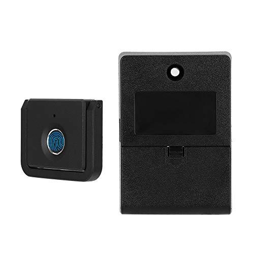 Denkerm Serratura Elettronica per armadietto, Serratura biometrica Nera per Impronte digitali, USB Ricaricabile con indicatore di Funzione a 3 Colori Armadio per archivio mobili Armadio