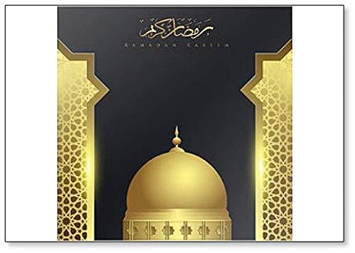 Kühlschrankmagnet Ramadan Kareem mit Moschee