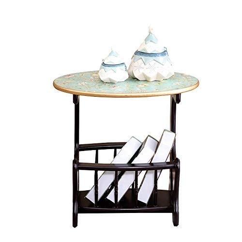 Aivias Côté Cabinet Canapé Côté Petite Table Basse Créative Peint Simple  Table De Jardin Massif Côté Canapé Table De Jardin Massif (Taille: 40 * 29  * ...