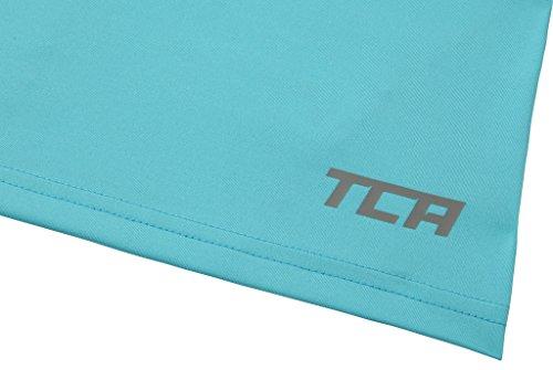 TCA Superthermal Quickdry Damen Laufshirt/Funktionsshirt mit Rundhalsausschnitt – Hellblau, XL - 6