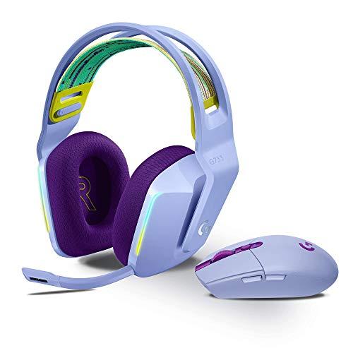 Logitech G305 Lightspeed Wireless Gaming Maus + Logitech G733 Lightspeed Kabelloses Gaming-Headset mit Kopfbügel