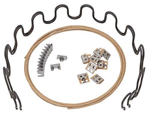 House2Home 27' Sofa Upholstery Spring Replacement Kit- 2pk Springs, Clips, Wire for Furniture Chair Couch Repair Includes Instructions