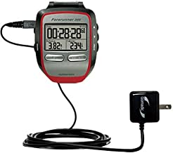 Gomadic Intelligent Compact AC Home Wall Charger suitable for the Garmin Forerunner 305 - High output power with a convenient, foldable plug design - Uses TipExchange Technology