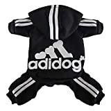 Scheppend Herbst und Winter mit Vier Beinen Hund Sweatshirts mit Kapuze
