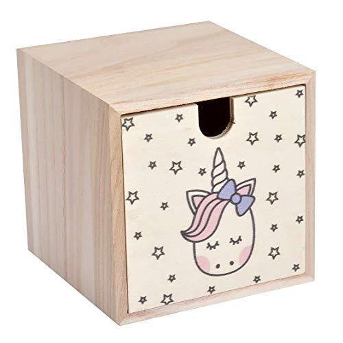 U10 Boîte en Bois pour Enfant Hello Jungle 12 x 12 x 12 cm