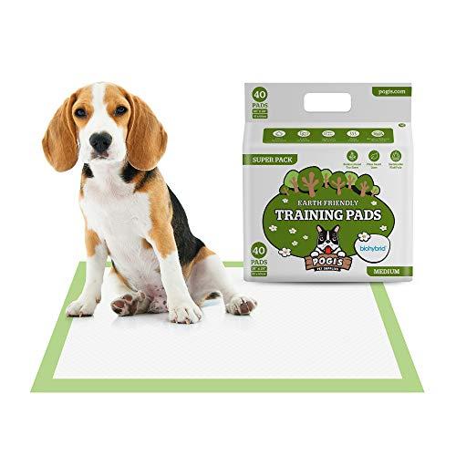 Pogi's Trainingsunterlagen (40 Stück) (45x60cm) — Mittelgroße, superabsorbierende, erdfreundliche Hunde-Trainingsunterlagen für Welpen und kleine Hunde