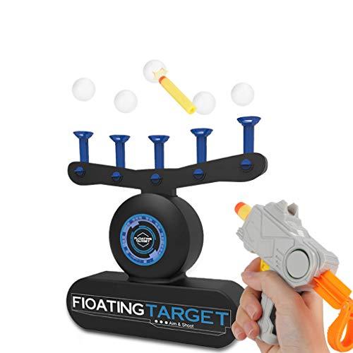 Schießspiel mit Schwebenden Bällen, Spielzeugpistole, Zielscheibe Für nerf, Toy Gun Hover Shot, Floating Shooting Target Foam Dart Blasters für Kinder, Schießen Schwimmdock Zielsatz (Blau)