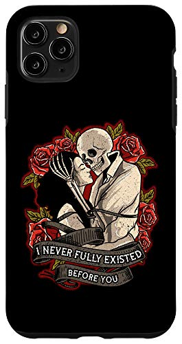 iPhone 11 Pro Max Badass Lovers Gothic Dark Couple Skeleton Case