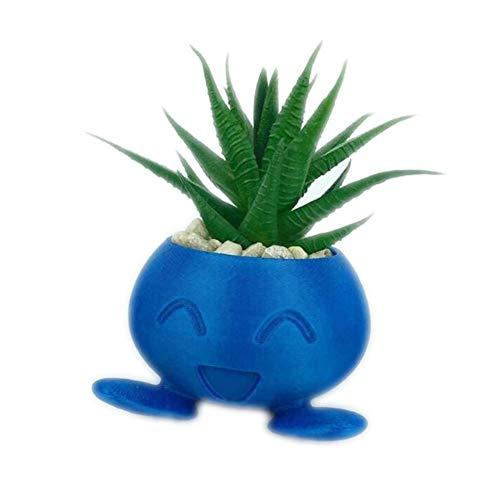 Zhenwo Plantador De Decoración Suculentas Maceta Maceta De Flores Maceta De Flores Crisol del Plantador Pokemon,Azul