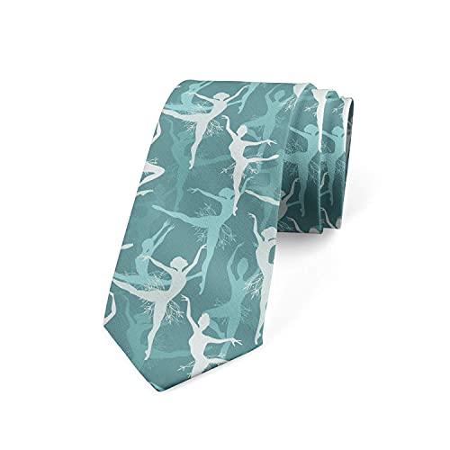 Paedto Corbatas de Hombre, Corbata para Fiesta de Negocios, Negocios Formales, Boda, Traje, Camisa de Vestir (Bailarinas bailando arte)-8x145cm