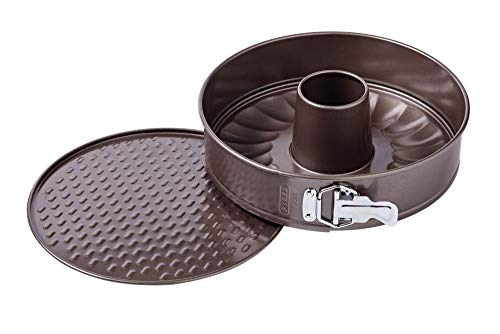 Pyrex Backform mit 2 Hintergründen, 26 cm, Asimetria PX Kuchen, Karbonstahl, mehrfarbig