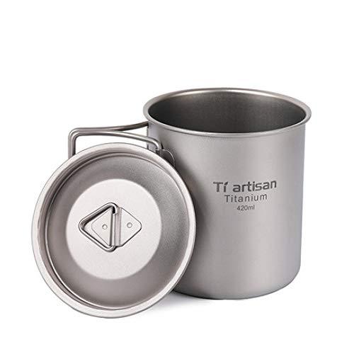 SUNHAO Titanio puro al aire libre-Copa 420ML beber la taza de té...