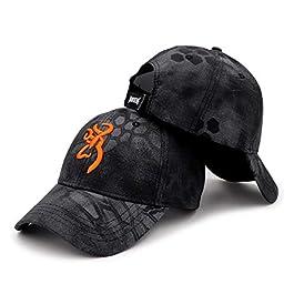 QOHNK Browning en Plein Air Chapeau Chapeau Casquette De Baseball Hommes Casquette De Pêche Jungle Chasse Camouflage…