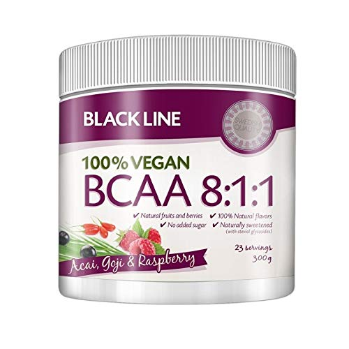 Budo & Fitness Black Line 100% Vegan BCAA 300 g (Berry)